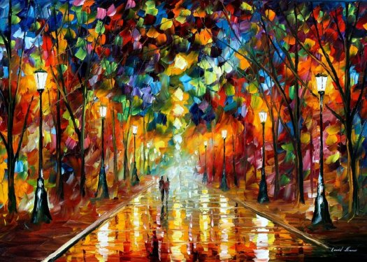 """""""Farewell to Anger"""" Painting by Leonid Afremov"""